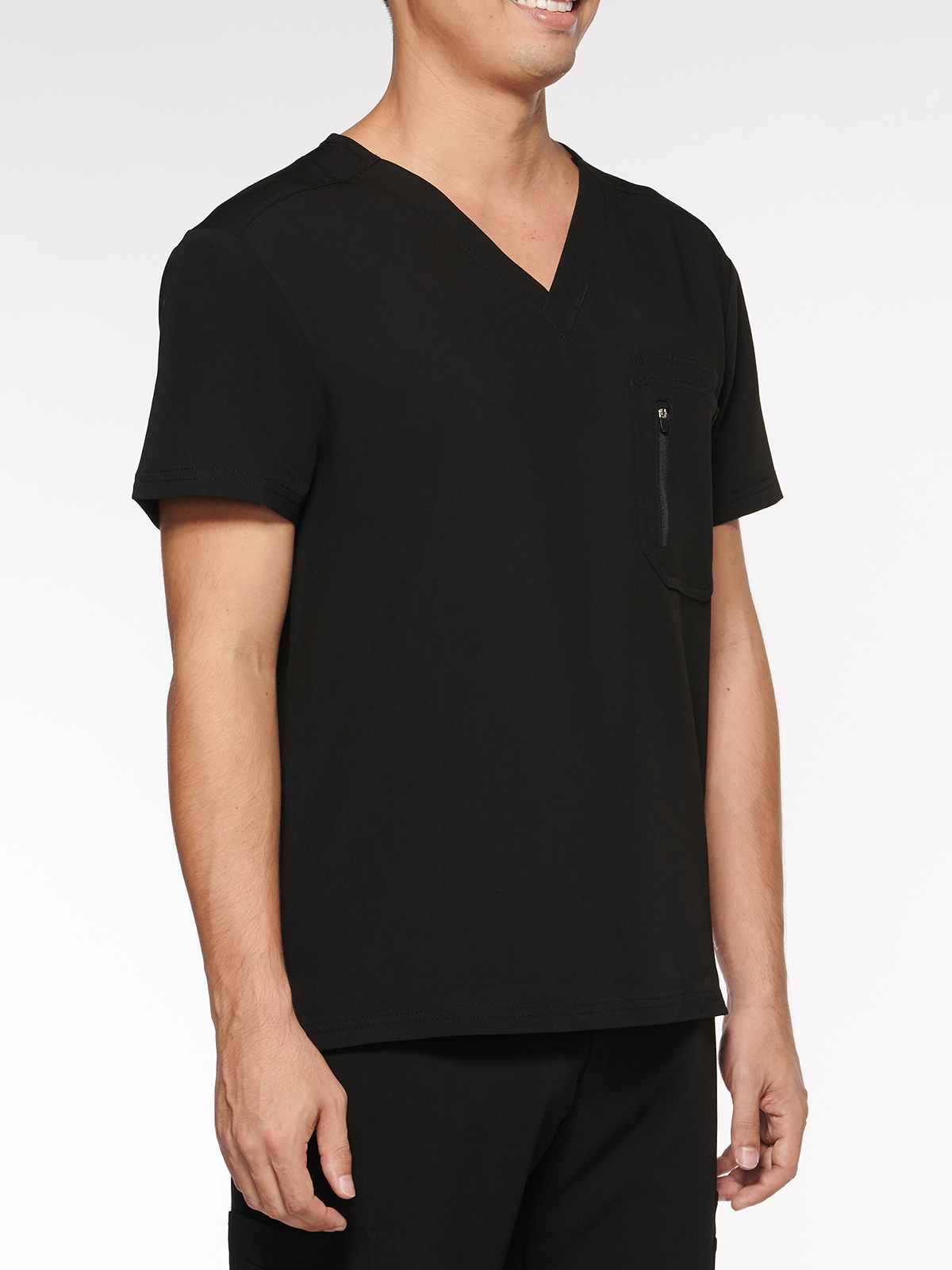 Mens Top Classic V-Neck with 4 Pockets