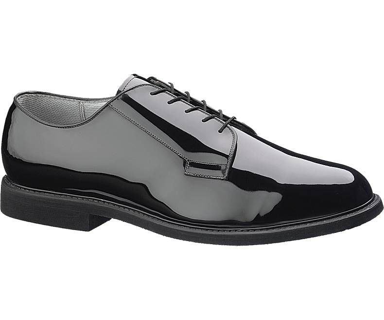 Mens High Gloss Leather Sole Oxford-Bates Footwear