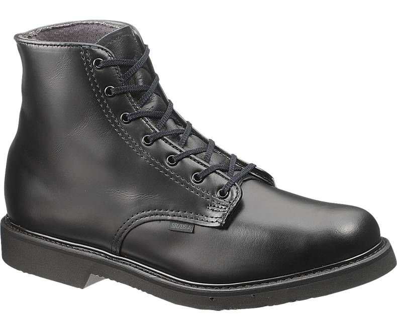 "Mens Bates Lites 6"" Leather Lace Up Boot-Bates Footwear"