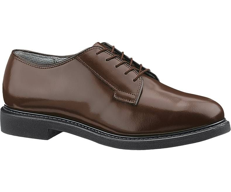 Mens Bates Lites Brown Leather Oxford-