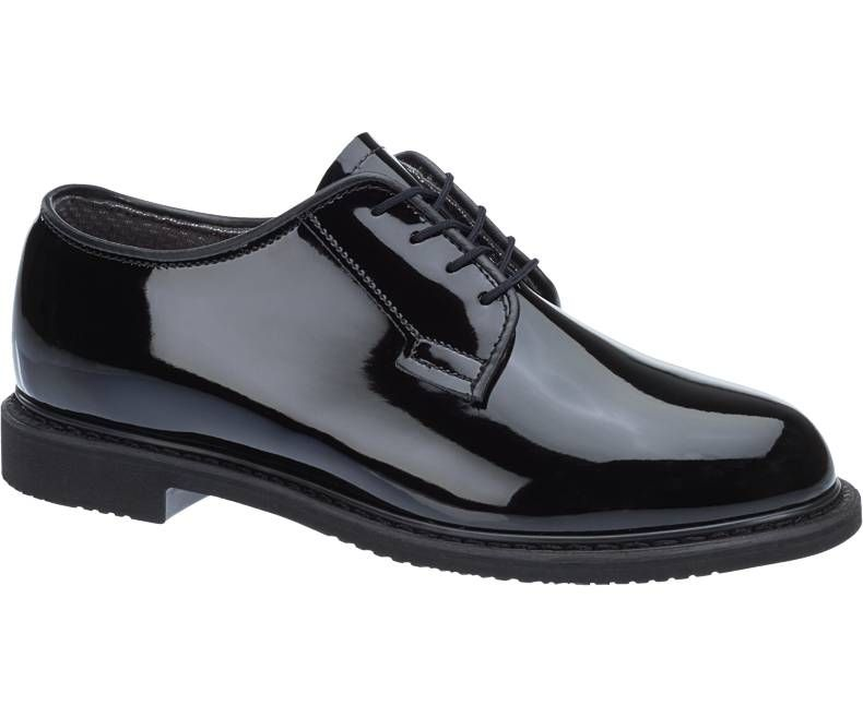 Mens Bates Lites Black High Gloss Oxford-Bates Footwear