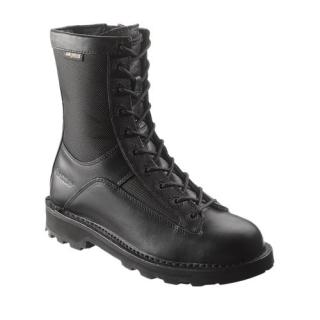 Mens 8' DuraShocks® Lace-to-toe Side Zip Boot-Bates Footwear