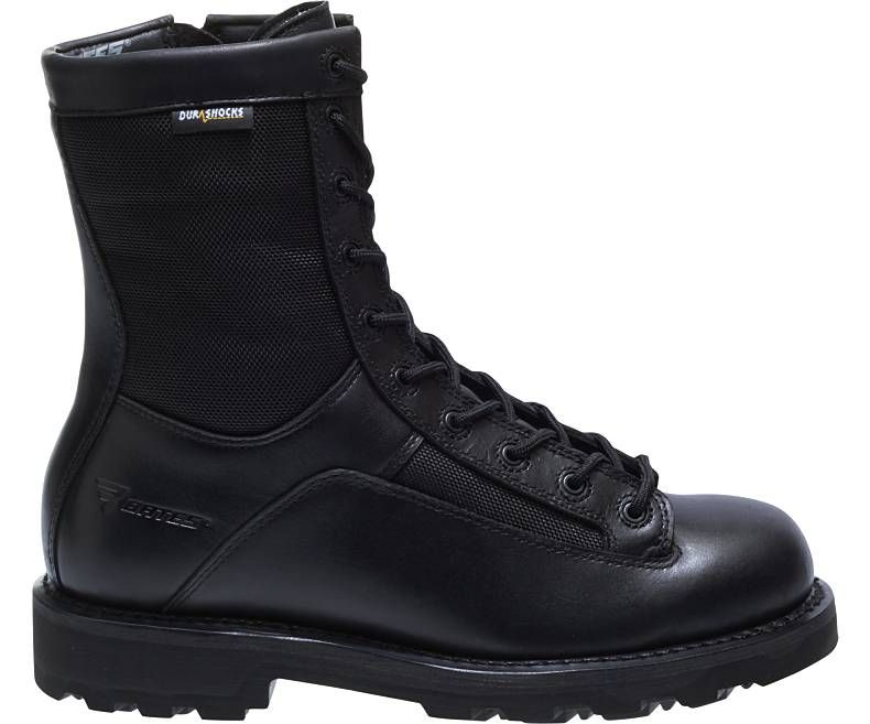 "Mens 8"" DuraShocks® Lace-to-toe Side Zip Boot-Bates Footwear"