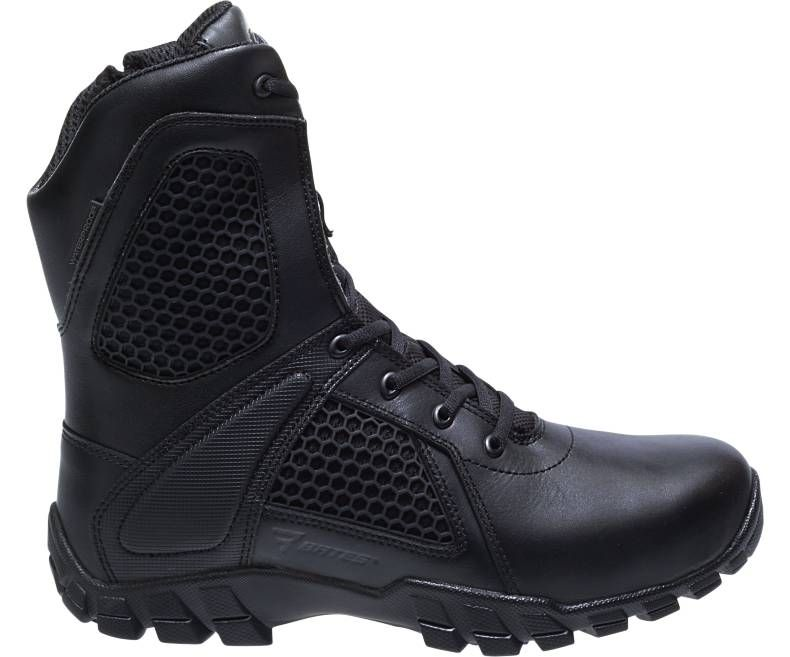 "E07008 8"" Strike Side Zip Boot-Bates Footwear"