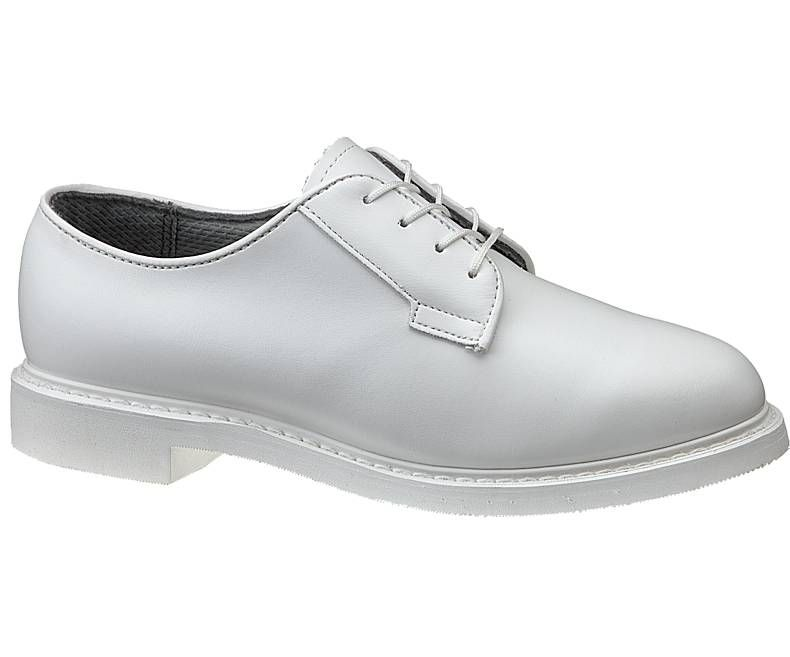E07131 Womens Bates Lites White Leather Oxford-Bates Footwear