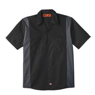 Mens Industrial Color Block Short-Sleeve Shirt-