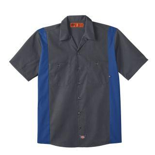 24CH Mens Industrial Color Block Short-Sleeve Shirt-Dickies®