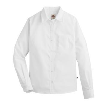 Womens Long-Sleeve Stretch Poplin Shirt-