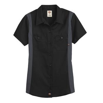 Dickies Womens Industrial Short Sleeve Color Block Shirt -L24S-