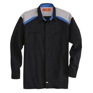 Mens Tricolor Long-Sleeve Shop Shirt-