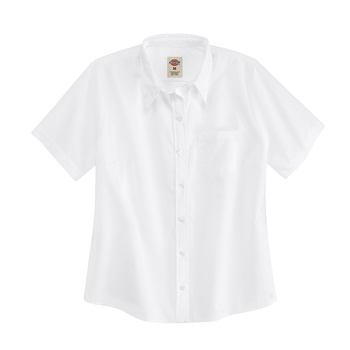 Womens Short-Sleeve Stretch Poplin Shirt-