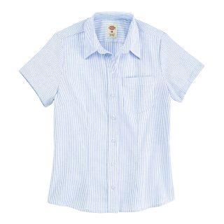 Womens Short-Sleeve Stretch Oxford Shirt-