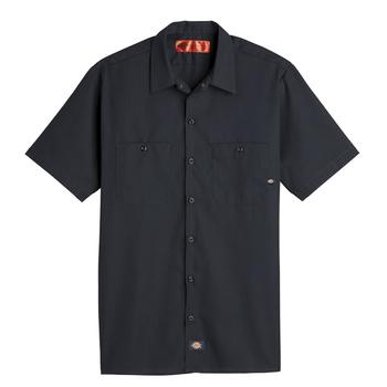 Mens Industrial Short-Sleeve Work Shirt-