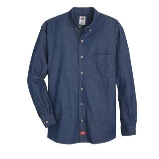 Mens Denim Long-Sleeve Work Shirt-Dickies®