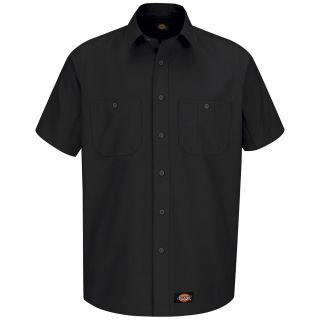 Mens Canvas Short-Sleeve Work Shirt-