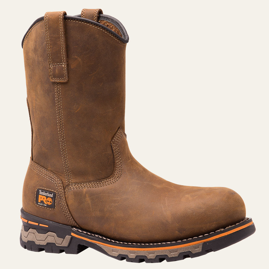 AG BOSS ROUND ALLOY TOE UNLINED PULL-ON WORK BOOTS MEN'S TIMBERLAND PRO® A12CS214