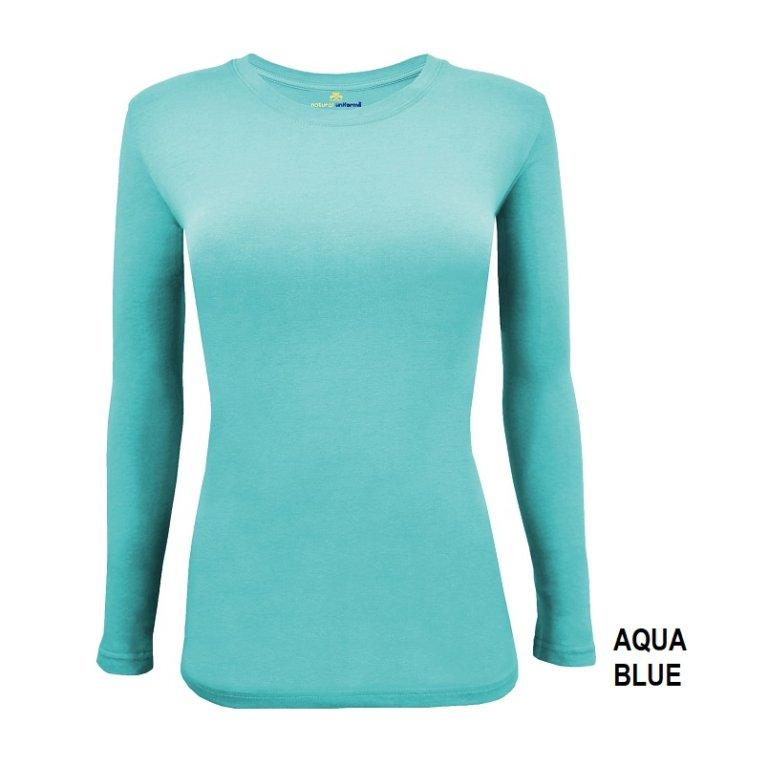 Long Sleeve Under Scrub Stretch T-Shirt - Scrub Top-Prism Medical Apparel
