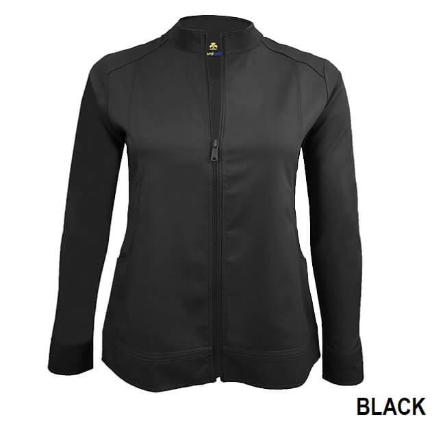 Women's Ultra Soft Front Zip Warm Up Scrub Jacket-Natural Uniforms