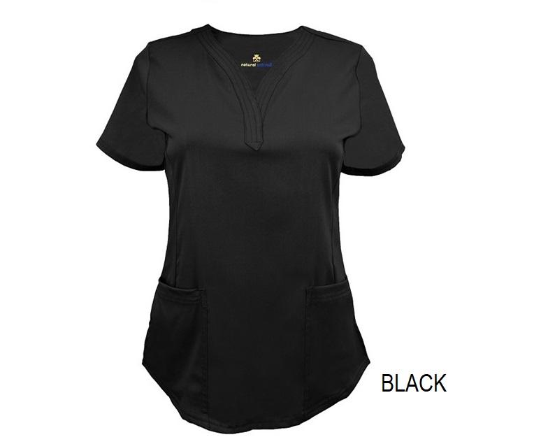 Ultra Soft Stretch Drop Neck Scrub Top-Natural Uniforms