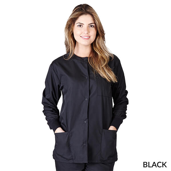 Ladies Warmup Jacket-Natural Uniforms