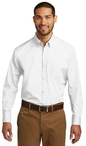 Men's Long Sleeve Carefree Poplin Shirt-Prism Medical Apparel