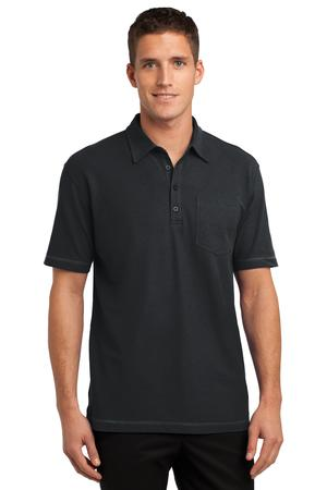 Port Authority® Modern Stain-Resistant Pocket Polo.-Port Authority