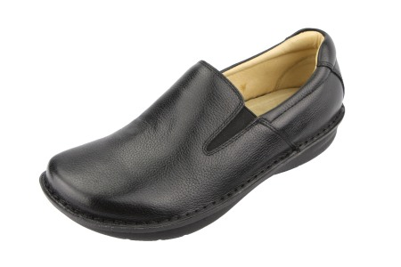 Oz Alegria Men Oz Black Tumbled Leather-