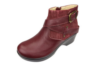 Eva Burgundy Boot-