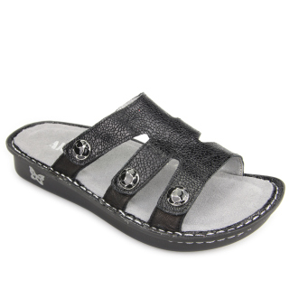 Venice Masonry Black Sandal-