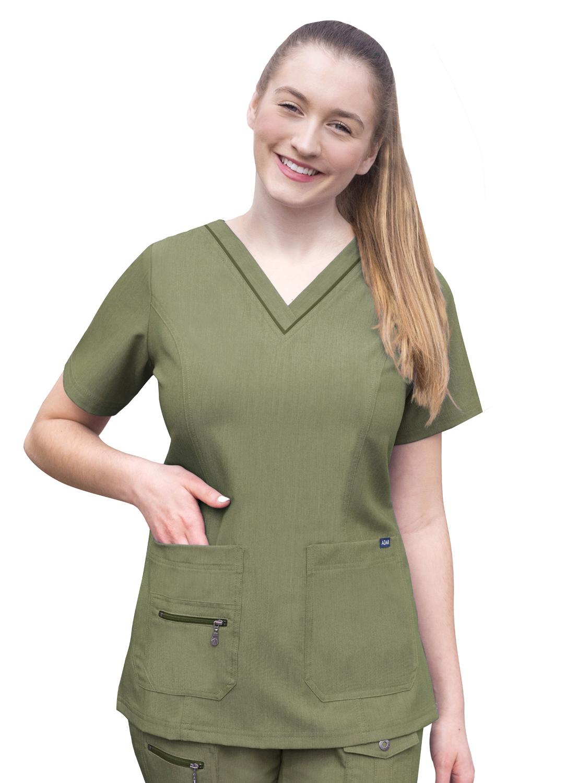 ADAR Pro Womens Elevated V-neck crub Top-Adar Medical Uniforms