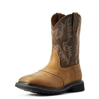 Sierra Wide Square Toe Work Boot-