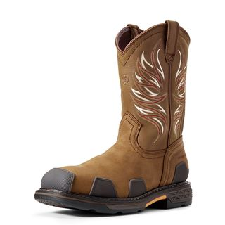 10011933 OverDrive Wide Square Toe Composite Toe Work Boot-Ariat