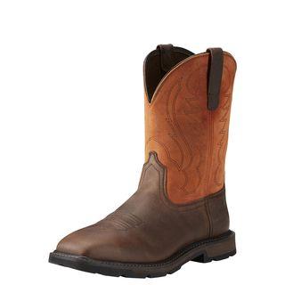 Groundbreaker Wide Square Toe Steel Toe Work Boot-Ariat