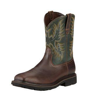 Sierra Wide Square Toe Steel Toe Work Boot-
