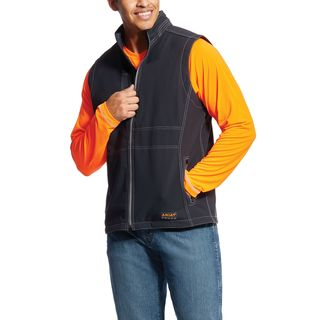 Rebar Stretch Canvas Softshell Vest-