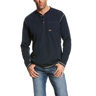 Rebar Pocket Henley Top-