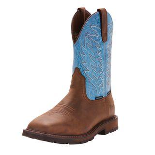 Groundbreaker Wide Square Toe Waterproof Steel Toe Work Boot-