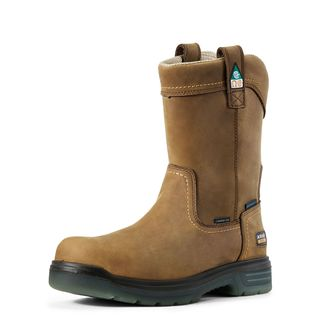 Turbo Pull-On CSA Waterproof Carbon Toe Work Boot-Ariat