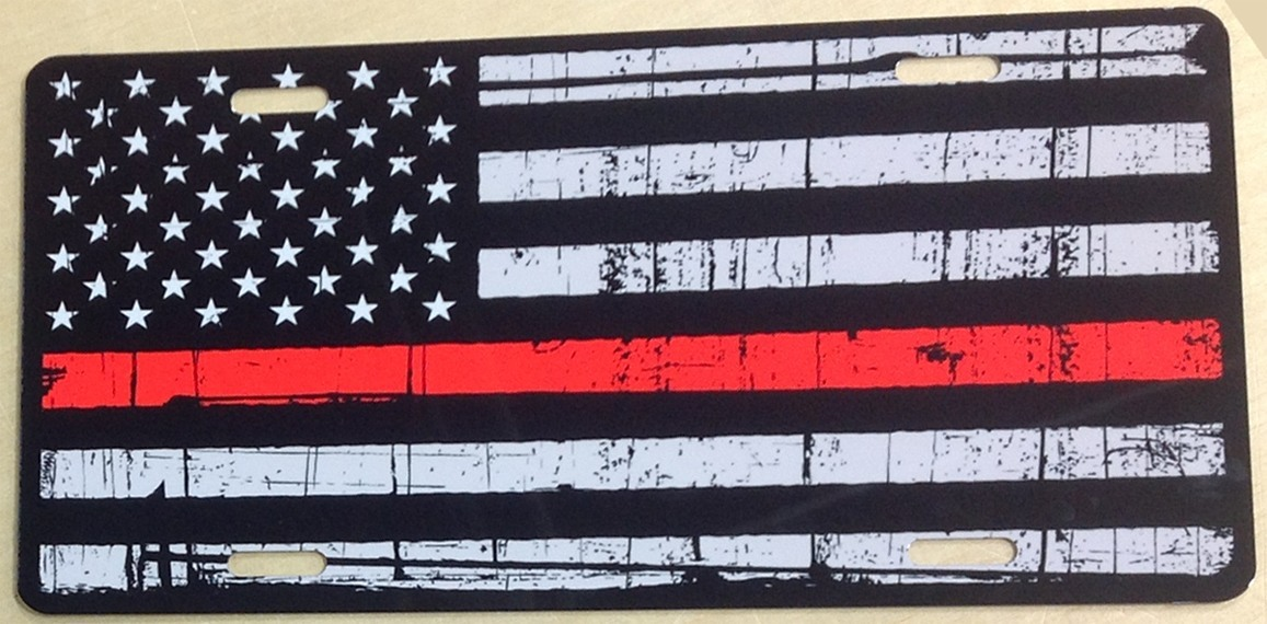 Black and White American Flag  with Strip