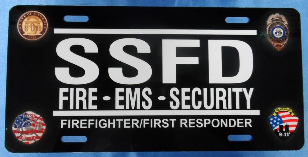 SSFD License Plate