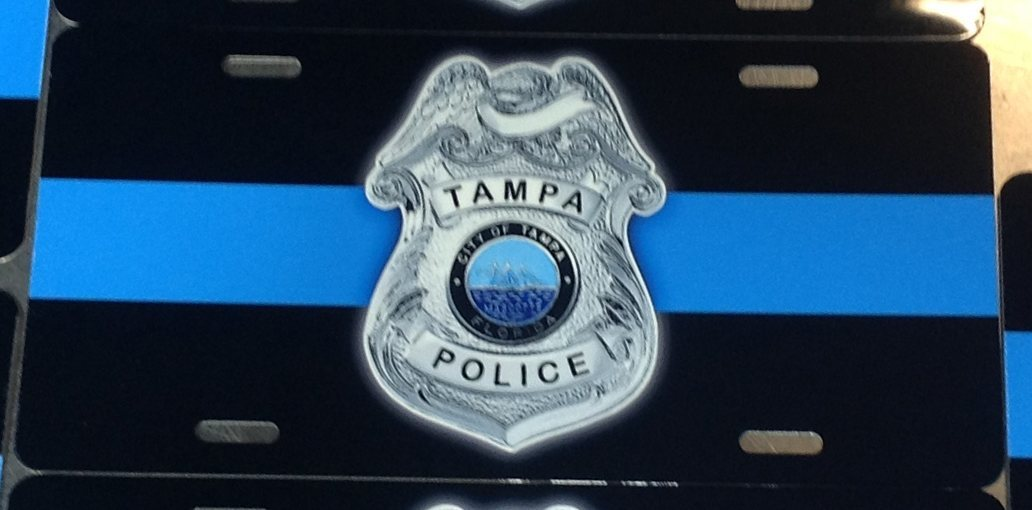 Tampa Police License Plate