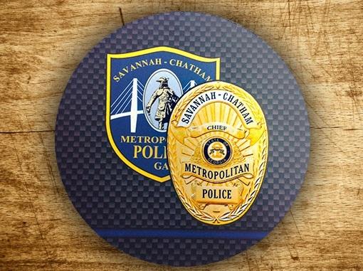 Savannah Chatham County Police Department Circle Mouse Pad 1