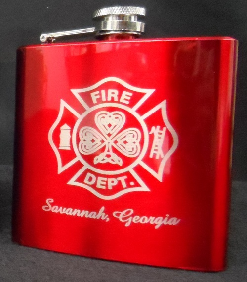 Glossy Red Flask