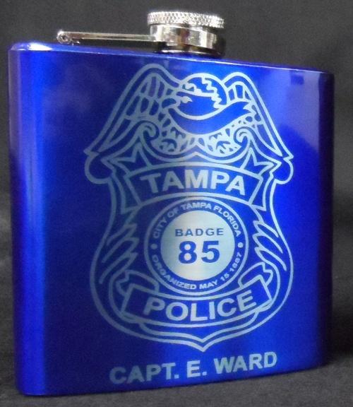 Glossy Blue Flask