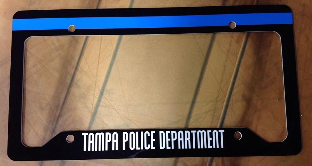 Tampa Police License Frame
