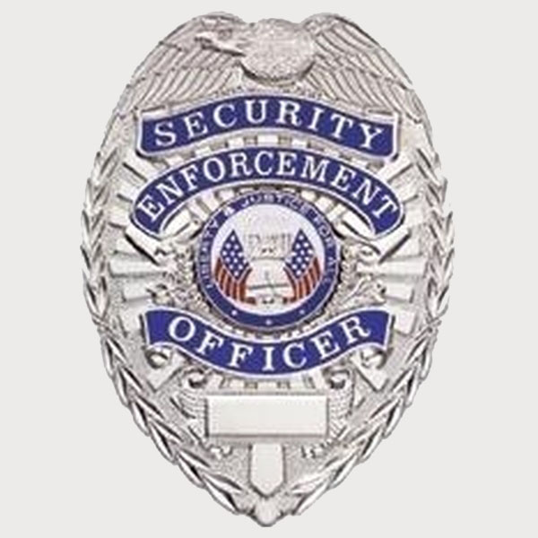 SECURITY ENFORCEMENT OFFICER, LIGHTWEIGHT BADGE, PIN & SAFETY CATCH-Classic Custom