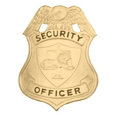 SECURITY OFFICER BADGE-