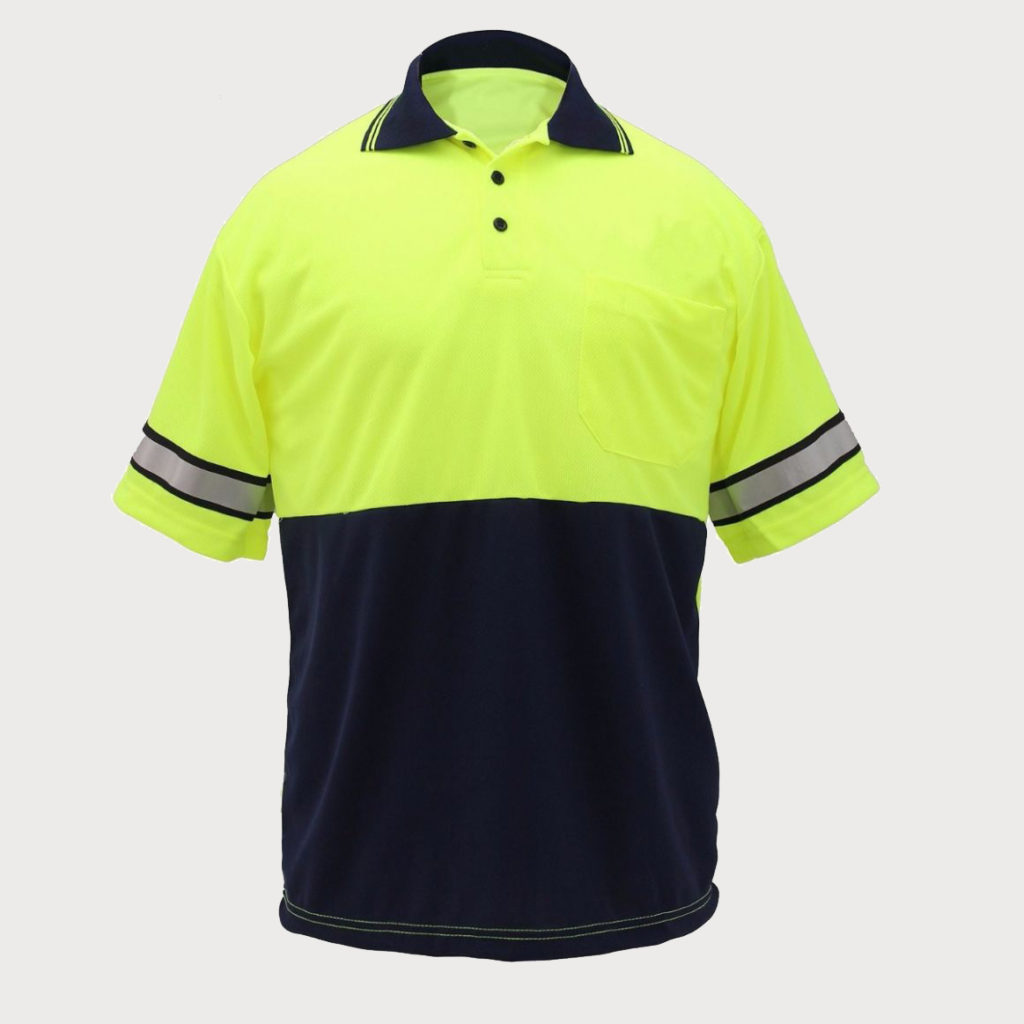 Classic Custom Two Tone Polyester Polos-Classic Custom
