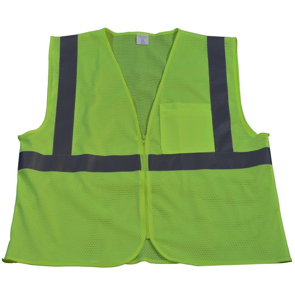 Class 2 Mesh Safety Vest Zipper Closure-Classic Custom