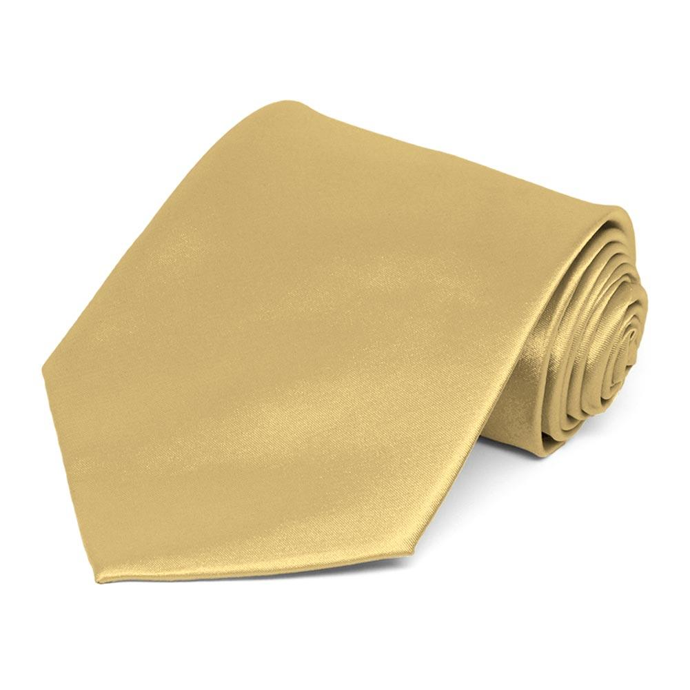 Gold Solid Neck Tie-
